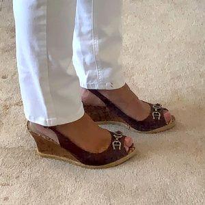 Etienne Aigner Slingback sandals, brown